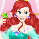 Ariel Wedding Hairstyle And Dress