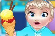 Baby Elsa Cooking Homemade Icecream game