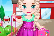 Baby Elsa Goes To School