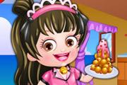Baby Hazel Waitress Dressup game