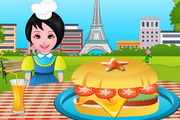 Cooking French Burger
