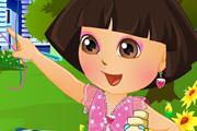 Dora Play In The Garden