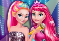 Elsa & Anna In Rock' N' Royals