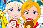 Elsa And Anna Babies Christmas game