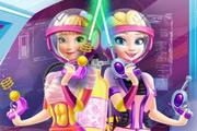 Elsa And Anna Landing On Mars