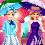 Elsa And Anna Paris Shopping