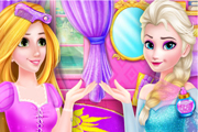 Elsa Become Rapunzel