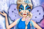 Elsa Face Tattoo