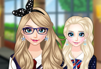 Elsa Goes To School