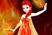 Frozen Elsa Fire Makeover game