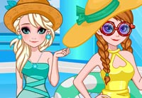 Frozen Sisters Pool Party