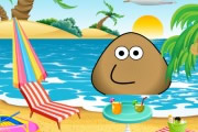 Pou At The Beach game