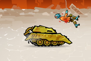 Tank rage in zombie city game